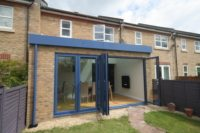 folding doors and extension