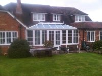 large conservatory for house
